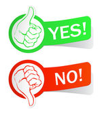 Labels yes no — Stock Vector
