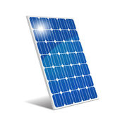 Panel photovoltaic — Stock Vector