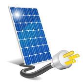 Panel photovoltaic — Stock Vector