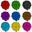 Royal sign colored wax seals — Stock Photo