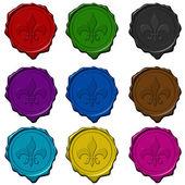королевский знак цветного воска уплотнения — Стоковое фото