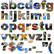 Stock Photo: Photo collage alphabet - lowercase