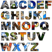 Photo collage alphabet - uppercase — Stock Photo