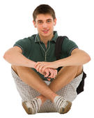 Teenage student sitting — Stock Photo