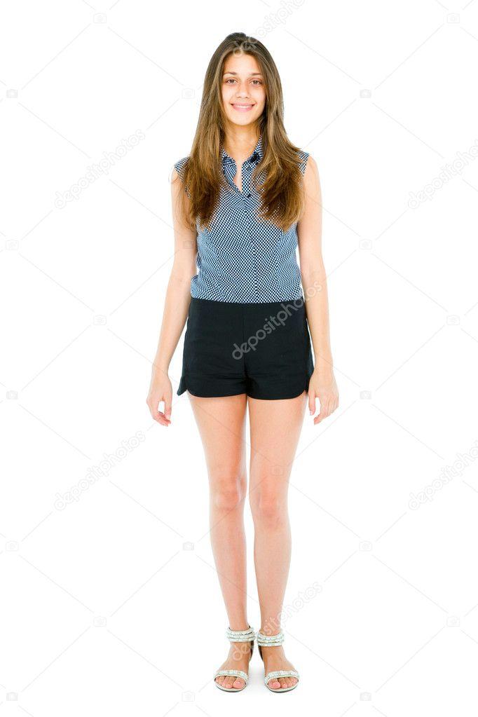 Full teenage girl standing stock photo ambrophoto 12036543 - Teen age girl picthar ...
