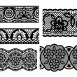 Lace. Decorative seamless patterns — Stock Vector