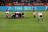 Rugby Duvenhage Feeds Scrum Stormers South Africa 2012 — ストック写真