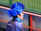 Bulls Supporter with Blue Hair — Stock Photo