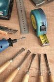 Trä arbetsredskap — Stockfoto