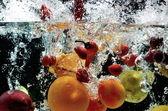 Fruit Splash on water — Stock Photo