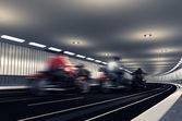 The movement of motorcyclists. — Foto Stock