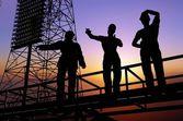Human figures builders — Stock Photo