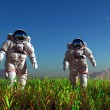 Stock Photo: Two astronauts
