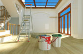 Renovation of the house. — Stock Photo