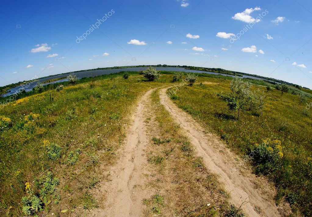 Rural road in colorful forest — Stock Photo #11392238