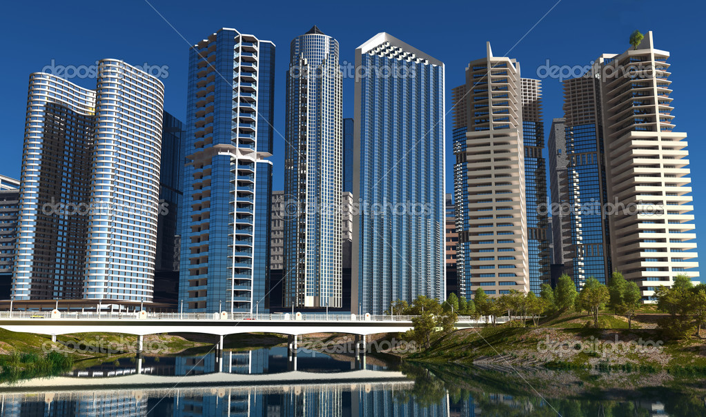 The modern buildings of the city skyscrapers. — Stock Photo #11392279