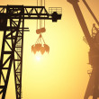 Silhouettes of cranes — Stock Photo #12320143