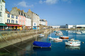 Harbor of douarnenez in brittany — Stock Photo