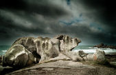 Mysterious rocks in brittany — Stock Photo