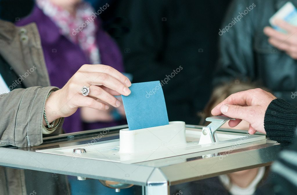 Close up women 's hand vote — Stock Photo #12168951