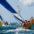 Stock Photo: Yacht at race regatta