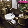 Stock Photo: Detail of washbasin in the modern bathroom