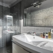 Detail of washbasin in a modern bathroom - Stock Photo