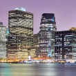 Manhattan skyline downtown - Stock Photo