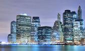 Manhattan skyline downtown — Stock Photo