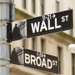 Wall Street and Broad Street — Stock Photo