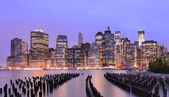 Skyline de manhattan downtown — Foto de Stock