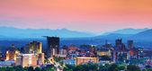 Panoramę miasta asheville — Zdjęcie stockowe