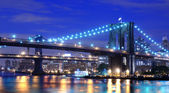 Brooklyn and Manhattan Bridge — Stock Photo