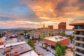 Downtown Asheville — Foto de Stock