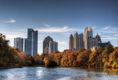 Atlanta From Piedmont Park — 图库照片
