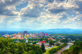 Horizonte de asheville — Foto de Stock