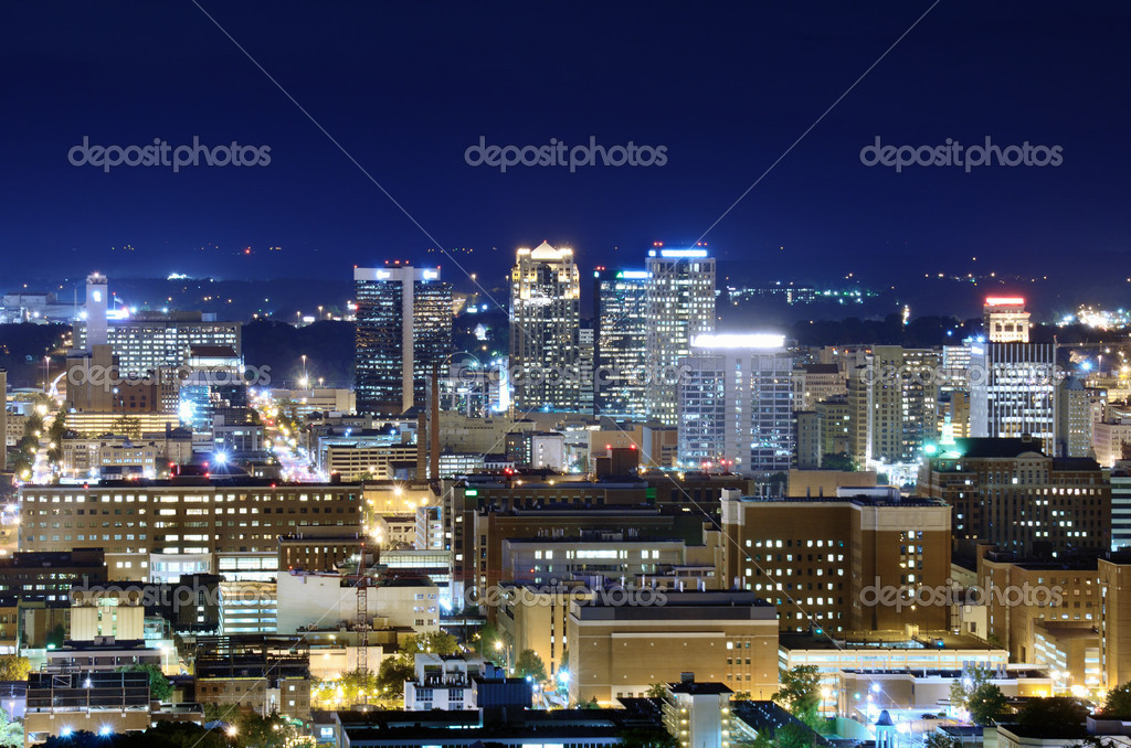 Skyline of downtown Birmingham, Alabama, USA. — Stock Photo #11773375