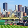 PNC Park and Downtown PIttsburgh - Stock Photo