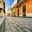 Streets of Old San Juan - Stock Photo