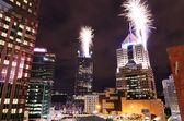 都市の花火 — ストック写真