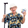 Excited happy elderly man — Stock Photo #11317928