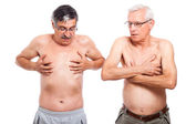 Two naked seniors — Stock Photo