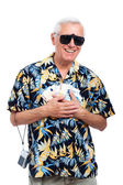 Happy rich senior tourist — Stock Photo