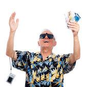Senior ricco soddisfatto — Foto Stock