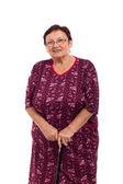 Feliz sorrindo mulher idosa — Fotografia Stock