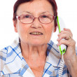 Royalty-Free Stock Photo: Happy senior woman on the phone