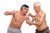 Seniors fight — Stock Photo
