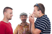 Friends smoking hashish — Stock Photo