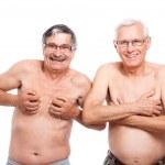 Two funny naked seniors — Stock Photo #12113310