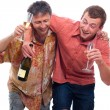 Stock Photo: Drunken men